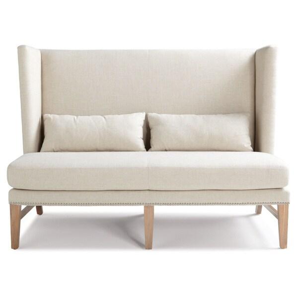 Sunpan Malibu Contemporary Linen Loveseat