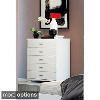 Manhattan Comfort White High Gloss 5-drawer Astor Dresser