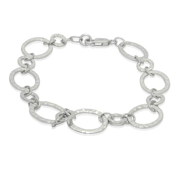 Gioelli Sterling Silver Oval Link Bracelet