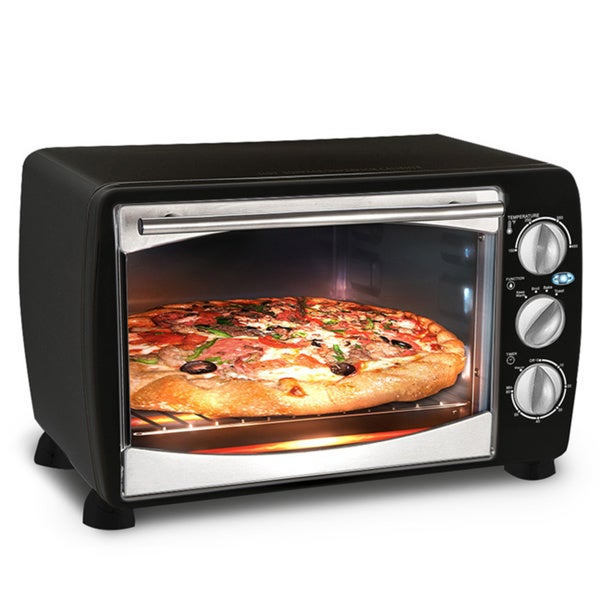 Multi-Functional Black Countertop Toaster Oven Broiler