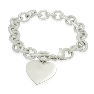 Gioelli Michelle Lee Sterling Silver Heart Charm Bracelet