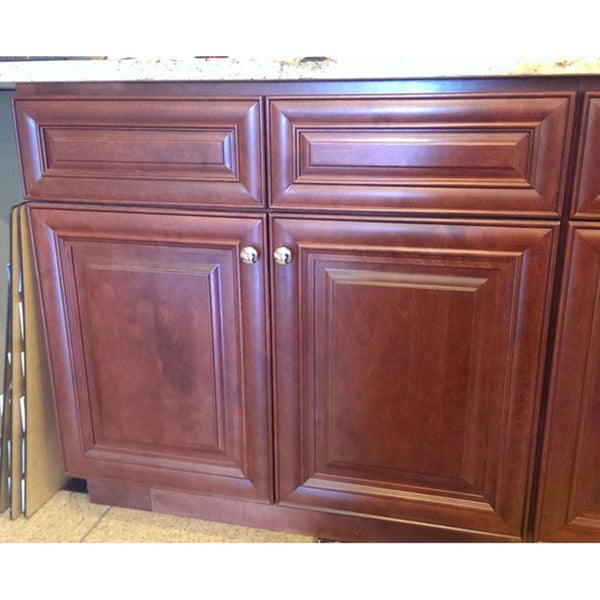 Living 34 5 Inch Maple Kitchen Base Cabinet 16381904 Overstock