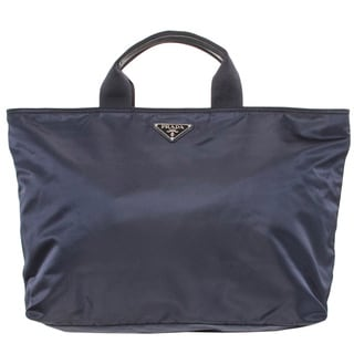 Prada Navy Nylon Oversized Travel Tote