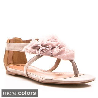 Gomax Women's 'Ares 29' Delicate Fabric Flower Sandals