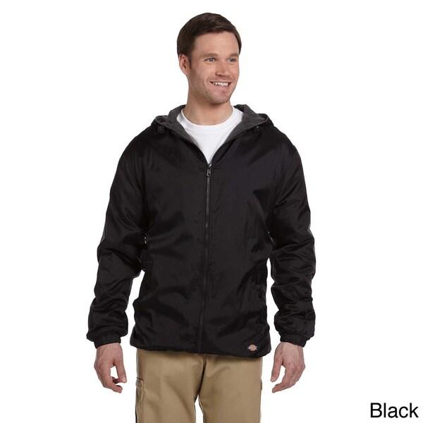 Dickies Men's Fleece-lined Hooded Nylon Jacket