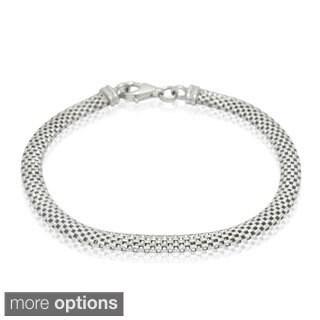 Gioelli Michelle Lee Sterling Silver Designer Mesh Bracelet
