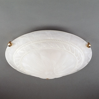Wilshire Medallion White Alabaster Flush Mount