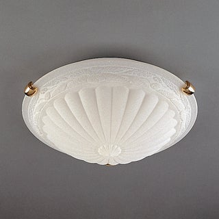 Wilshire Medaliion Scavo and Floral Trim Flush Mount