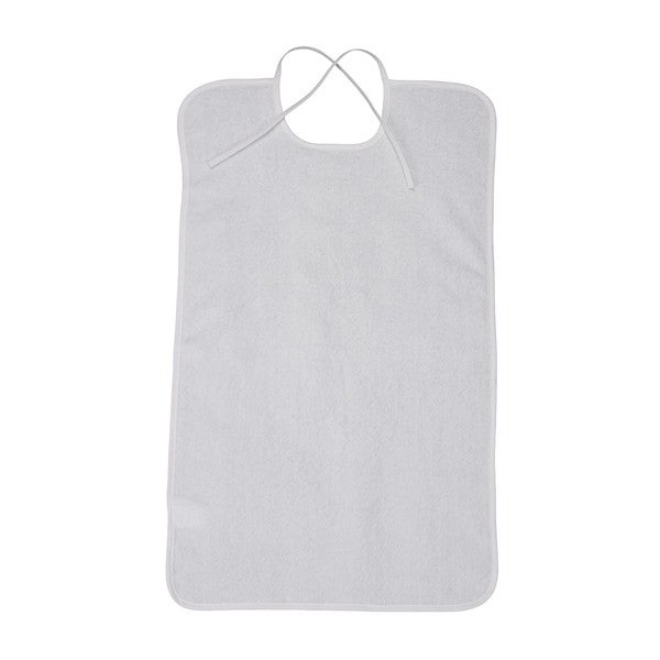 Lifestyle White Terry Towel Bib