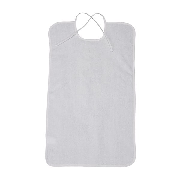 Lifestyle White Terry Towel Bib
