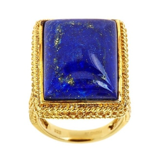 D'Yach Gold Over Silver Lapis Ring