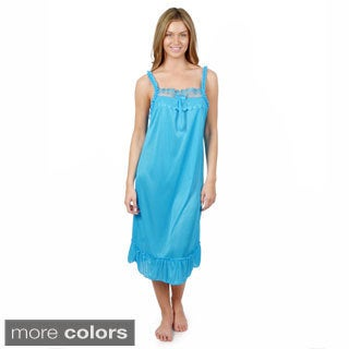 Journee Collection Women's Sleeveless Ruffled Nightie