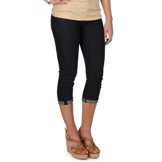 Hailey Jeans Co. Junior's Denim Cuffed Capris