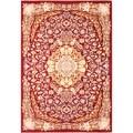 Persia Tabriz Dark Red/ Cream Medallion Area Rug (7'10 x 11'2)