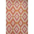 Southwestern/Tribal Pattern Orange/ Pink Wool Area Rug (2'x3')