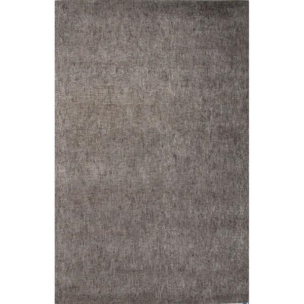 Hand Tufted Black/ Grey Wool/ Art Silk Area Rug (5'x8')