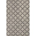 Hand Tufted Geometric Pattern Grey/ Ivory Wool Area Rug (8'x10')