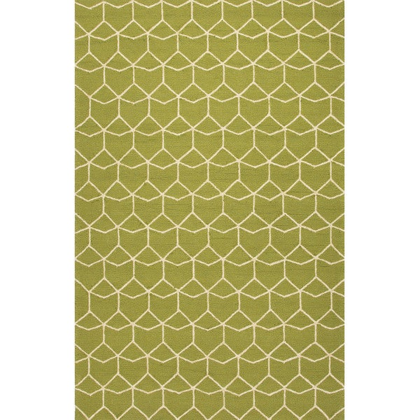 Geometric Pattern Green/ White Area