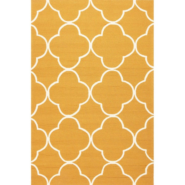 Geometric Pattern Orange/ White Area