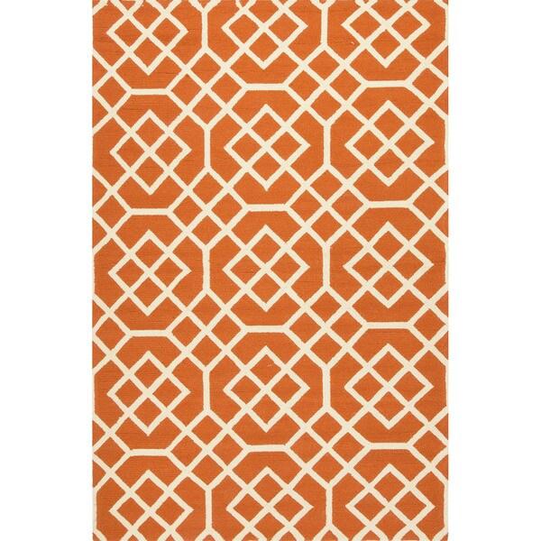Geometric Pattern Orange/ White Area
