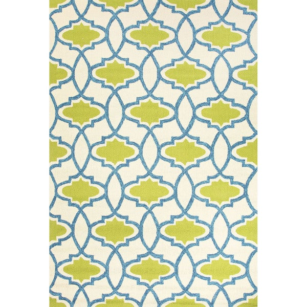 Geometric Pattern Green/ Beige Area