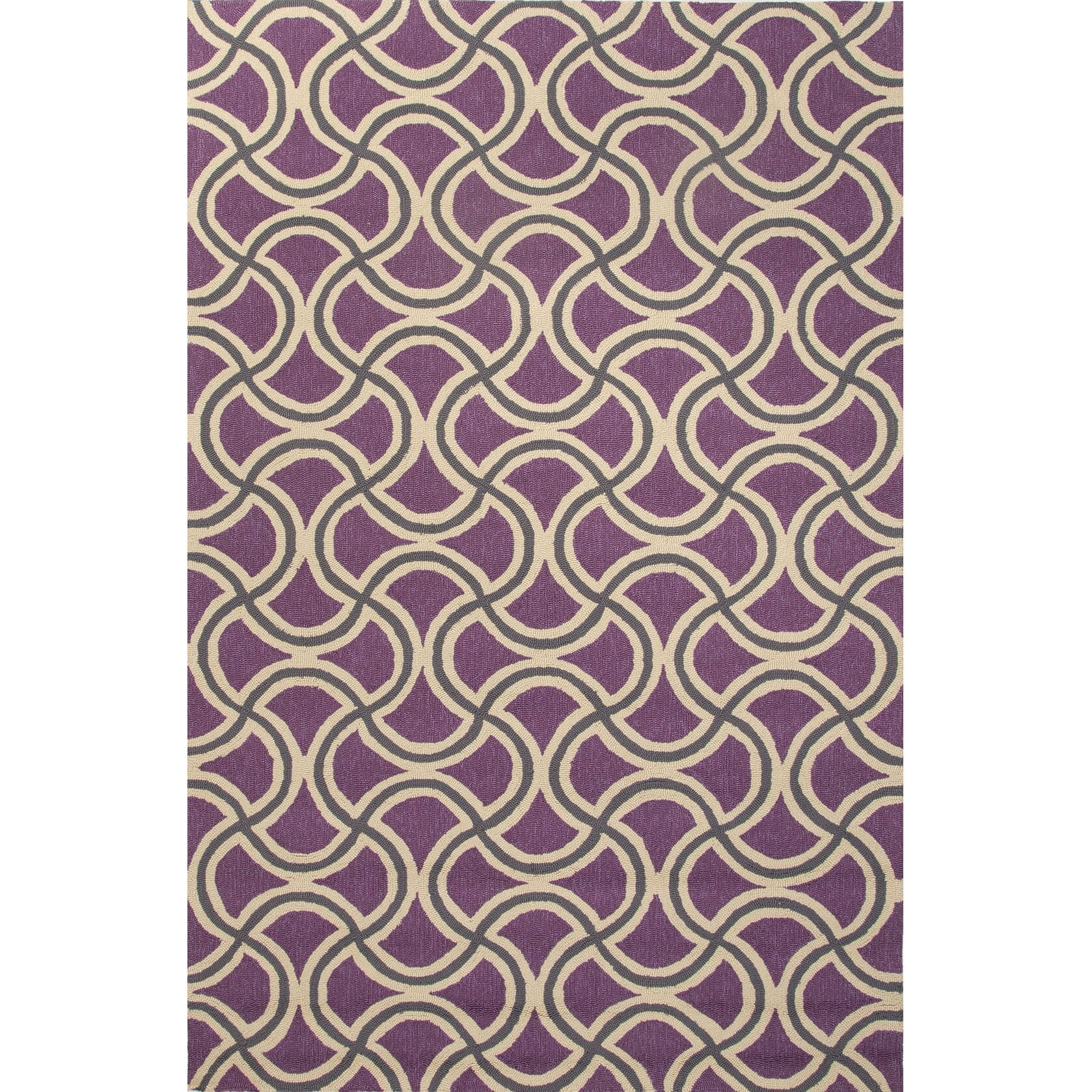 Overstock.com Geometric Pattern Purple/ Beige Polypropylene Area Rug (5'x7'6) at Sears.com