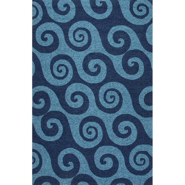 Handmade Abstract Pattern Blue Area