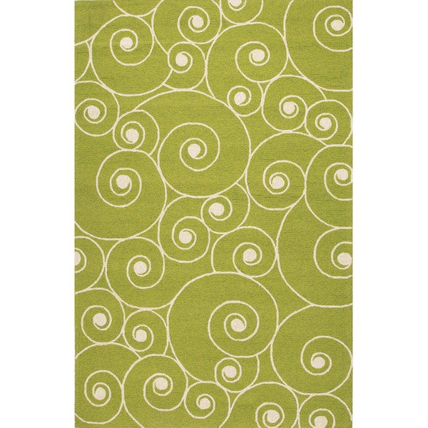 Abstract Pattern Green/ Ivory Area R