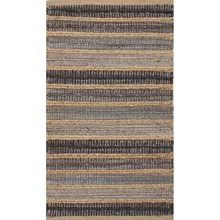 Handmade Grey/ Natural Jute/ Cotton Area Rug (2'x3'4)