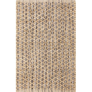 Handmade Abstract Pattern Beige/ Grey Jute/ Cotton Area Rug (2'x3'4)