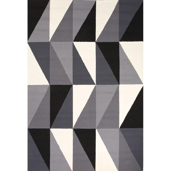 Geometric Pattern Grey/ Black Area R