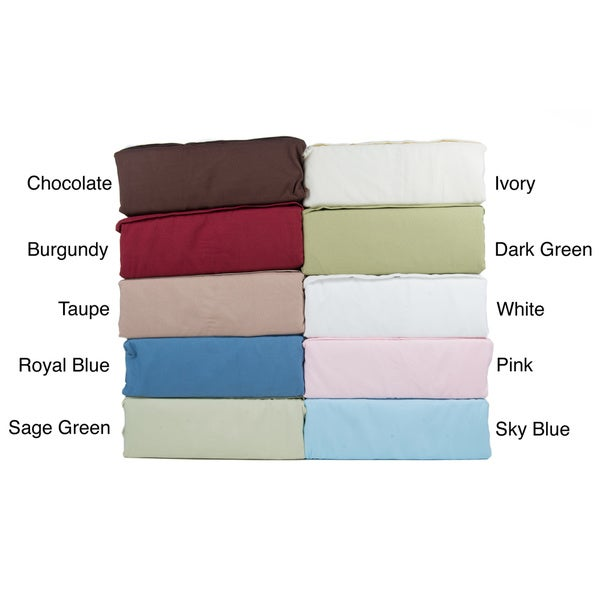 Beauty Sleep Solid Soft Microfiber Sheet Set