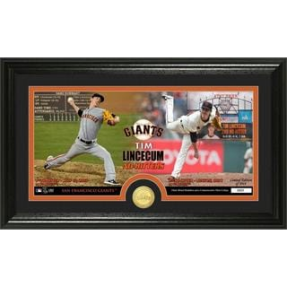 MLB Tim Lincecum Dual No Hitter Minted Coin Panoramic Photo Mint