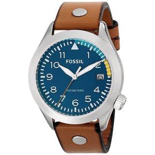 Fossil Men's AM4554 Aeroflite Analog Display Analog Quartz Brown Watch