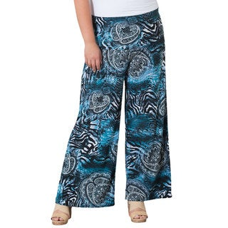 Sealed With a Kiss Women's Plus 'Gina' Paisley Animal Print Palazzo Pants