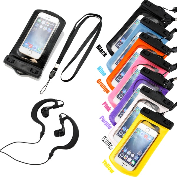 Gearonic Waterproof Bag Case Arm Band Earphone for iPhone 4 4S 5 5S
