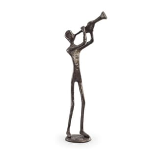 Trumpet Player Bronze Sculpture