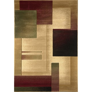 Revolution Contemporary Cream Rug (5'3 x 7'7)