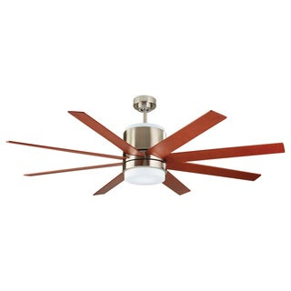 Monte Carlo Araya 58-inch 8-blade Brushed Steel Ceiling Fan