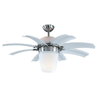 SB Airlift 44-inch 8-blade Brushed Steel Ceiling Fan
