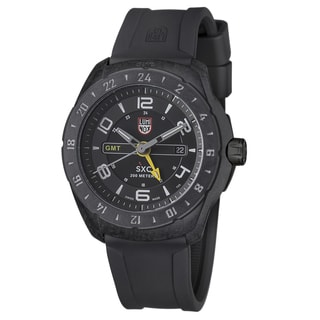 Luminox Men's A.5021 'SXC' Black/Yellow Dial Black Rubber Strap Date Time Quartz Watch