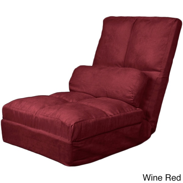 Cosmo Click Clack Convertible Futon Pillow-top Flip Chair ...