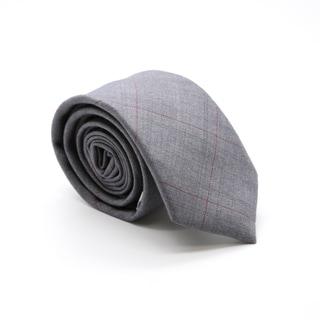 Zonettie by Ferrecci Grey Plaid Slim Necktie and Pocket Square Set