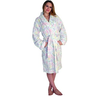 NDK New York Women's Floral Printed Chenille Robe