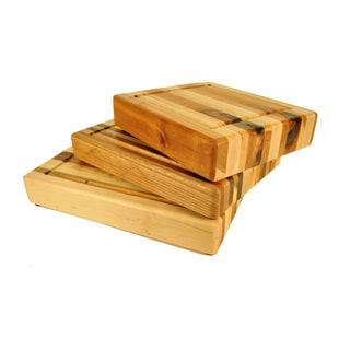 Handmade Wood Stripe Chopping Block