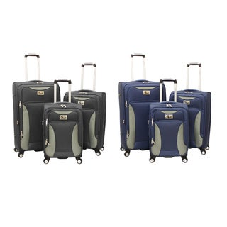 Chariot Bari 3-piece Spinner Polyester Luggage Set