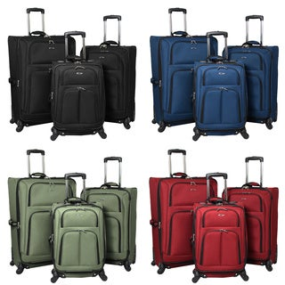 Palermo 3-piece Expandable Spinner Polyester Luggage Set