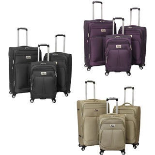 Chariot Taranto 3-piece Polyester Spinner Luggage Set