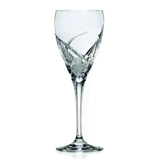 Crystal Grosetto Collection White Wine Stem Glasses (Set of 4)