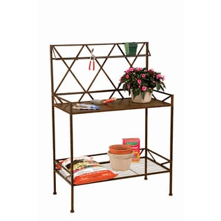 Potting Bench with Metal Shelf